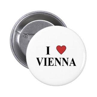 I Love Vienna 6 Cm Round Badge