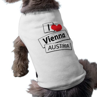 I Love Vienna Austria Sleeveless Dog Shirt