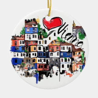 I love Vienna Christmas Ornament