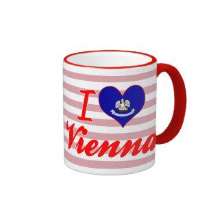 I Love Vienna, Louisiana Ringer Coffee Mug
