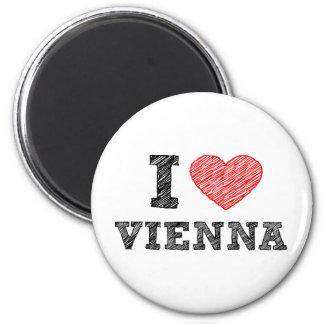 I Love Vienna 6 Cm Round Magnet