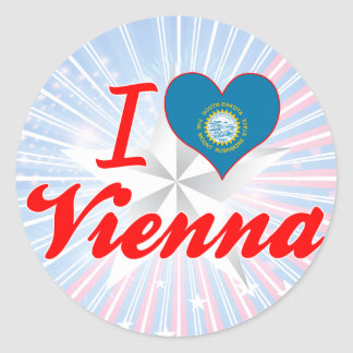 I Love Vienna, South Dakota Stickers