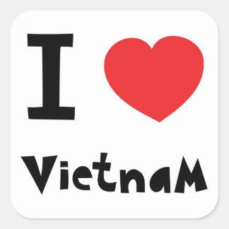 I love Vietnam Square Sticker