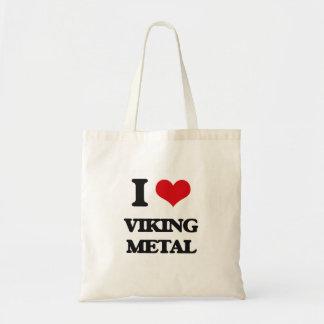 I Love VIKING METAL Tote Bag