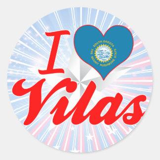I Love Vilas, South Dakota Round Stickers