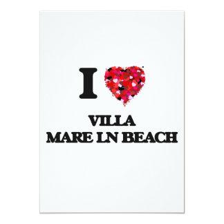 I love Villa Mare Ln Beach Florida 13 Cm X 18 Cm Invitation Card