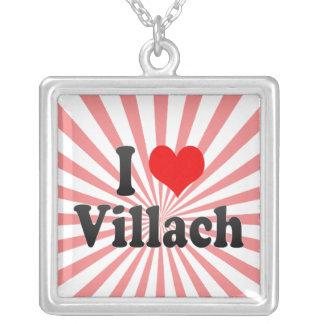 I Love Villach, Austria Silver Plated Necklace