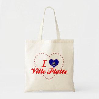 I Love Ville Platte, Louisiana Canvas Bag