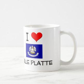 I Love VILLE PLATTE Louisiana Basic White Mug