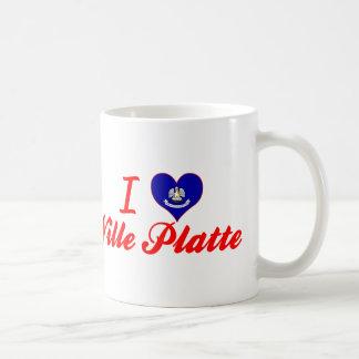 I Love Ville Platte, Louisiana Basic White Mug