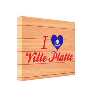 I Love Ville Platte, Louisiana Stretched Canvas Prints