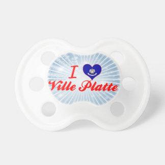 I Love Ville Platte Louisiana Pacifiers
