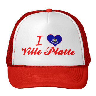 I Love Ville Platte, Louisiana Mesh Hats