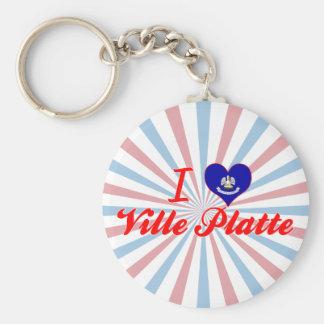 I Love Ville Platte, Louisiana Key Chains