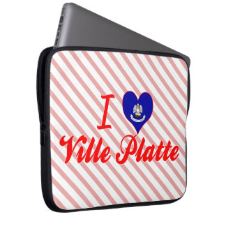 I Love Ville Platte Louisiana Computer Sleeves