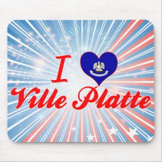 I Love Ville Platte Louisiana Mousepads