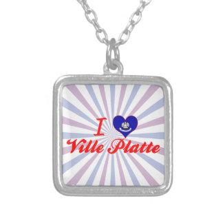 I Love Ville Platte, Louisiana Necklaces