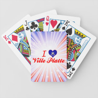 I Love Ville Platte Louisiana Deck Of Cards