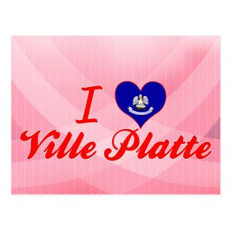 I Love Ville Platte Louisiana Postcard