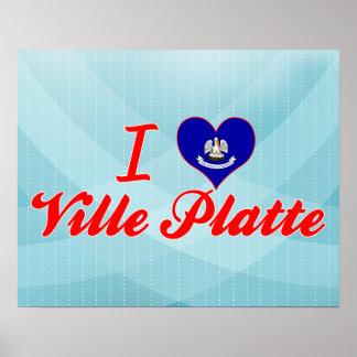 I Love Ville Platte Louisiana Print