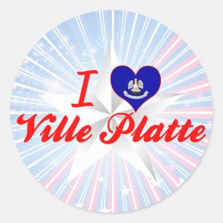 I Love Ville Platte, Louisiana Round Sticker