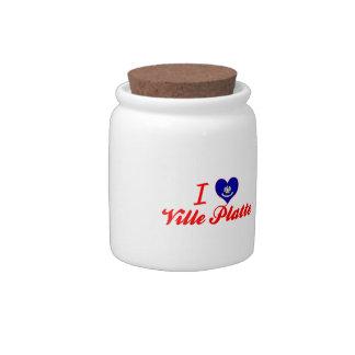 I Love Ville Platte, Louisiana Candy Jar