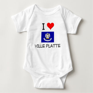 I Love VILLE PLATTE Louisiana T Shirts