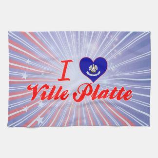 I Love Ville Platte, Louisiana Hand Towel