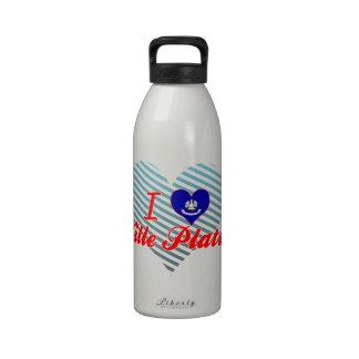 I Love Ville Platte, Louisiana Drinking Bottles