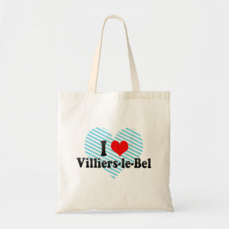 I Love Villiers-le-Bel, France Tote Bags