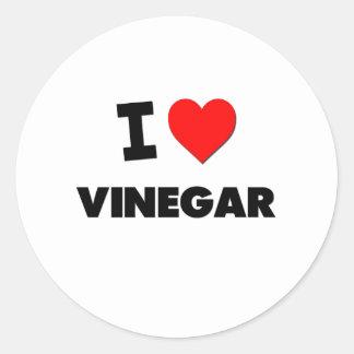 I love Vinegar Round Sticker
