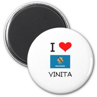I Love Vinita Oklahoma 6 Cm Round Magnet