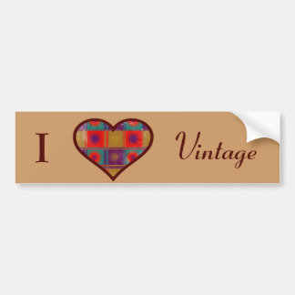 I love vintage sticker bumper sticker