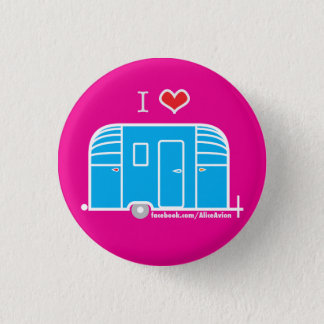 I Love Vintage Trailers Button
