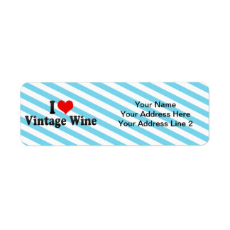 I Love Vintage Wine Return Address Label