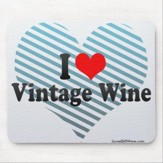 I Love Vintage Wine Mouse Pad