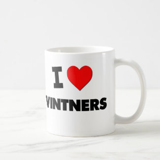 I Love Vintners Coffee Mugs