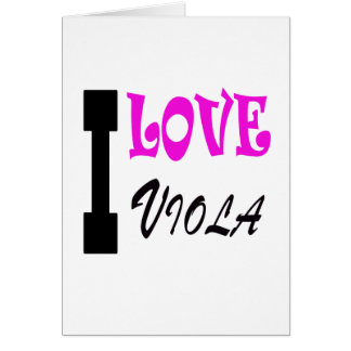 I Love viola Cards