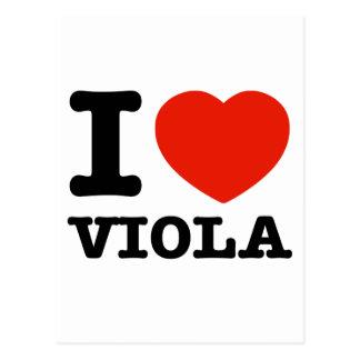 i love viola postcard