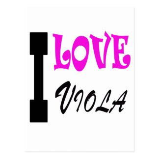 I Love viola Post Cards
