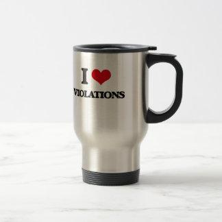 I love Violations Stainless Steel Travel Mug