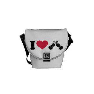 I love Violin Fiddle Messenger Bags