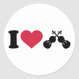 I love Violin Fiddle Stickers