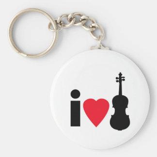 I Love Violin Key Ring