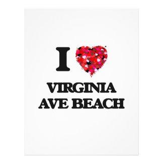 I love Virginia Ave Beach Delaware 21.5 Cm X 28 Cm Flyer