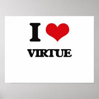 I love Virtue Poster