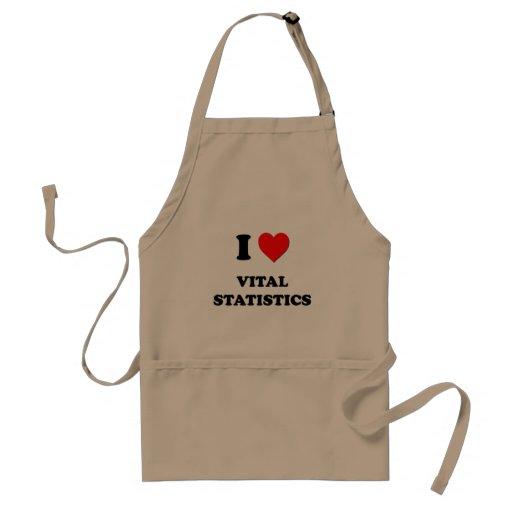 I love Vital Statistics Apron