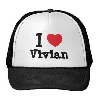 I love Vivian heart T-Shirt Cap