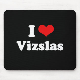 I Love Vizslas Mouse Mat