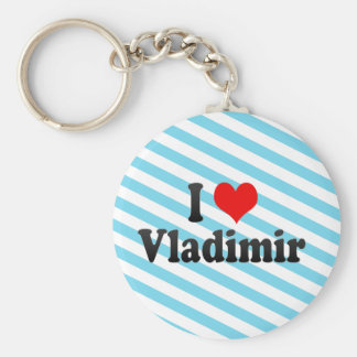 I Love Vladimir, Russia Basic Round Button Key Ring